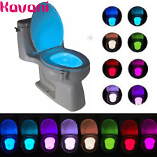 Toilet Night Light 8-Color LED Motion Sensing Automatic Bowl Seat Sensing Glow