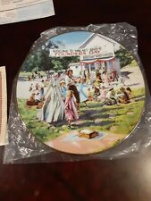 "Little House On The Prairie Plate ""Founder's Day Picnic"" Hamilton Collection"