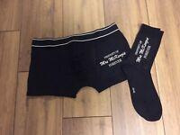 Personalised Custom Mens Boxer Shorts & Sock Set Husband Gift Anniversary
