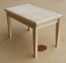 1:12 Natural Finish Kitchen Table Dolls House Miniature Furniture Accessory 9711