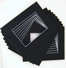 Pack of 20 12x16 BLACK Picture Mats with White Core Bevel Cut for 8x12 Pictures