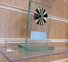VETRO Freccette Trofeo Premio INCISIONE GRATUITA.