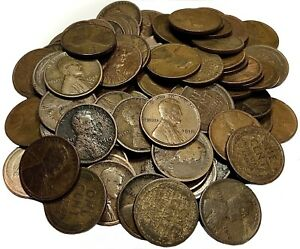 (50) One Roll Mixed Date/Mint TEENS Wheat Cent Penny