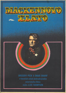 Original Vintage Poster Film Mackenna's Gold Western Omar Sharif Gregory Peck 71