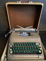 Vintage 1940s Smith Corona Sterling Typewriter Portable + Case + Works Great