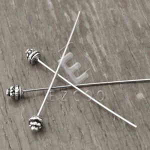 30stk DIY. Tibet Silber Kopfstifte Nietstifte Schmuck Andere 55x5x5mm PP Lang