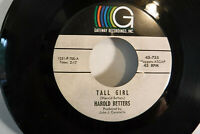 Harold Betters, Tall Girls / Twist And Shout, Gateway Recordings 45-755, 1965