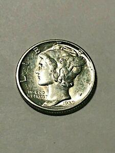 1939-D Mercury Silver Dime AU #17467