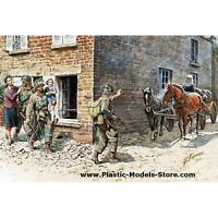 FRANCE 1944 US PARATROOPERS & CIVILIANS WWII 1/35 MASTER BOX 3578 DE