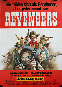 Revengers Die Rächer German movie poster DinA1 William Holden, Borgnine, Strode