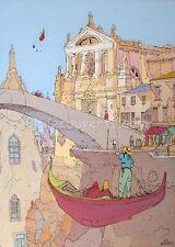 Affiche Moebius Jean Giraud Venise Venezia 49x65 cm