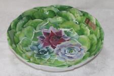 New listing Nicole Miller Floral Shaped Cactus Blooms Melamine Salad Pasta Serving Bowl