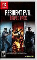 Resident Evil 4 5 6 Triple Pack Nintendo Switch Brand New Sealed