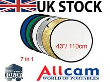 """Allcam 43""""/ 110cm Collapsible/ Portable Photographic Lighting Disc Reflector,New"""