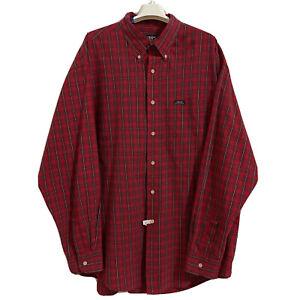 VTG Chaps x Ralph Lauren Mens L/S Red Plaid Pocket Button Up Shirt Size XL EUC