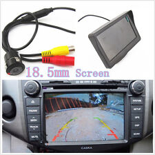 18.5mm Wide Angle Vehicle Reverse Parking Camera Kits Colour HD Digital Monitor