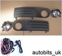 VOLKSWAGEN VW T5 TRANSPORTER 03-10 BUMPER  LIGHT FOG LAMPS GRILL L & R +WIRING