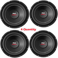 Pack 4 NEW Pyle PLPW8D 8'' 800 Watt Dual Voice Coil 4 Ohm Car Subwoofer Speakers