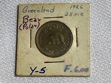 New ListingGreenland 25 Ore 1926 Polar Bear Coin