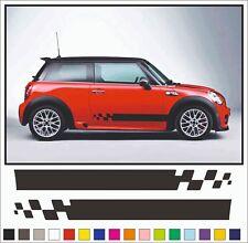 Mini Cooper S Mini One Mini Clubman Side Stripes Vinyl Graphics Decal Stickers