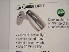 LED CABIN READING LIGHT CHROME BRASS 12V 390 41396P WITH SWITCH BOATINGMALL EBAY
