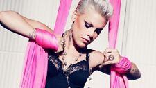 P!NK (PINK) trauma Singer Artist Iron On Transfer for t-shirt embellish 16x9cms