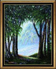 Harry McCormick Oil Painting on Board Original Forest Landscape Signed Artwork