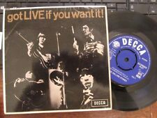 "THE ROLLING STONES ""Got Live If You Want It""  Rare Mono 7"" EP in P/Sv - DFE 8620"