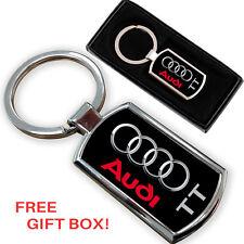 Audi TT Voiture Porte-clés key chain ring fob métal chromé NEUF