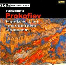 NEW - Prokofiev: Symphonies, No. 1& 5 [2 CD] by Various Artists