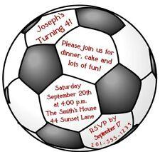 Custom Soccer Ball Birthday Party Invitation