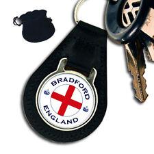 CITY OF BRADFORD ENGLAND LEATHER KEYRING / KEYFOB