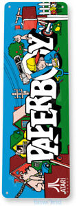 Paperboy Arcade Sign, Classic Arcade Game Marquee, Game Room Tin Sign C492