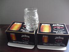 "Cool Lot of 4 Jim Beam 200th Anniversary Barrel Shot Glasses 2"" Tall NIB"