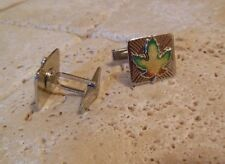 Sterling Silver 925 Canadian MAPLE LEAF Cufflinks A Great Gift Idea!