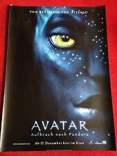 Avatar Aufbruch nach Pandora Kinoplakat Poster A1, Sigourney Weaver, J. Cameron