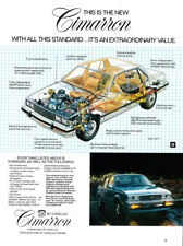 Cadillac Cimmaron print ad 1981 View of Engine and Interior - Standard Equipment