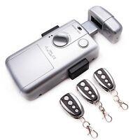 Serrure Electronique Intelligent Invisible avec 3 Télécommandes RC Lock Argent
