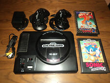 Sega Genesis 16 Bit High Definition Console Lot with Sonic 1 & 2 Ready to Play