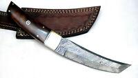 Custom made damascus steel Tanto Skinner Hunting knife  (FB-10152)