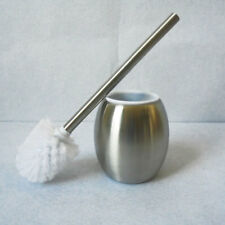 Stainless Steel Bathroom Toilet Brush Holder Round Free Standing Cleaning Set