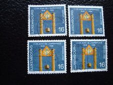 LUXEMBOURG - timbre yvert et tellier n° 1409 x4 obl (A30) stamp