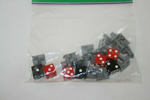 Risk Board Game 2008 - Replacement Pieces Parts - 7 Dice (4 Rd, 3 Blk) 15 Cities