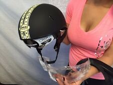 New Black White Gmax GM65S Half Helmet with two Flip down shields Motorcycles
