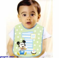 Disney Baby Mickey Mouse 1st Birthday Bib Boy Green Polka Dot Party Decorations