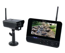 """Wireless CCTV Camera & 7"""" LCD Monitor DVR Motion Detect Home Security System"""