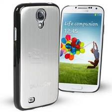 For Samsung Galaxy S4 IV Case Brushed Aluminium Metal Embossed Cover