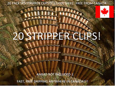 20x SKS AK stripper clips (lot of 20), NEW. SHIPS FREE FROM CANADA!