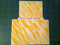 Smooth Tiger Stripe Stencil Pack (Zebra), for Duracoat, Cerakote, Krylon!