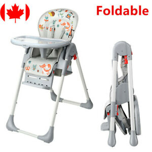 Baby High Chairs with Basket Booster Toddler, 3-Position Adjustable Food Tray